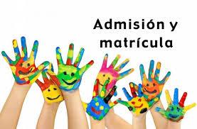 Admisión alumnado curso 2019/20